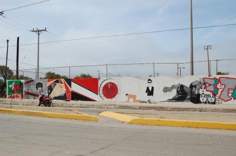Mural Colectivo con Ñium Komix, 2013, El Sauzal, Baja California, México